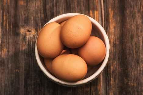 eggs on bowl